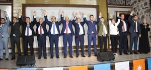 """Manisa AK Parti'de coşkulu aday tanıtımı AK Parti Manisa İl Başkanı Berk Mersinli: """"İnşallah hedefimiz 7 milletvekili. 6 çıkarsa Allah bereket versin diyeceğiz. 7'de bizim olsun istiyoruz"""""""