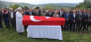 Kaza kurşunuyla hayatını kaybeden asker Tavşanlı'da toprağa verildi