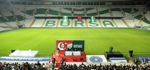 Bursaspor'da olağan genel kurulun ilk oturumu yapıldı