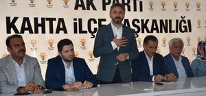 TBMM Başkan Vekili Aydın Kahta'da partililere hitap etti