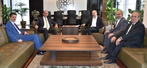 SGK İl Müdürü ve Vergi Dairesi Başkanı KTO'yu ziyaret etti