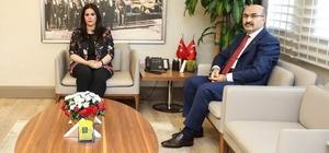 """Bakan Sarıeroğlu'ndan, Vali Demirtaş'a ziyaret Çalışma ve Sosyal Güvenlik Bakanı Jülide Sarıeroğlu: """"Adana'nın hak ettiği hizmetlerle buluşması için elimizden geleni yapmaya devam edeceğiz"""""""