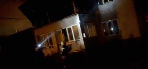 Konya'da yıldırım düşen 2 katlı ev yandı