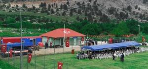 Kızıldağ Yaylası'nda jandarma karakolu Vali Demirtaş, Geçici Jandarma Asayiş Karakolu ile vatandaşların evlerinde daha rahat bir şekilde uyuyacağını belirtti