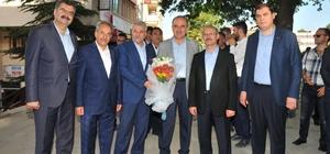 AK Parti Genel Başkan Yardımcısı Sorgun ile Milletvekili Adayı Erdem'den Başkan Akkaya'ya ziyaret
