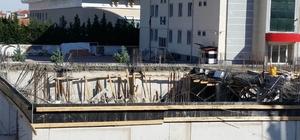 Öğretmenevi inşaatında beton kalıplar çöktü Konya'nın Kulu ilçesinde öğretmenevi inşaatında çökme oldu