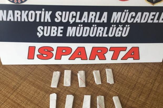 Isparta'da satışa hazır 11 paket eroin ele geçirildi