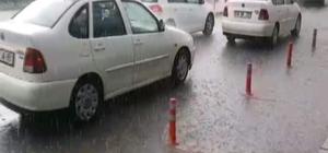 Develi'de şiddetli yağış