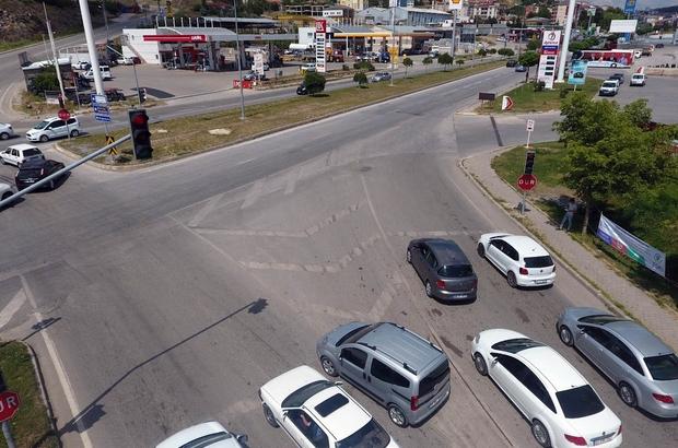 Yozgat'ta bayram öncesi drone ile trafik denetimi yapıldı