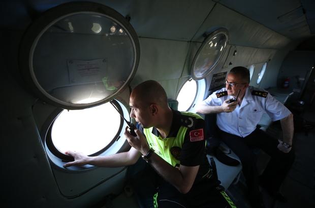 Trafik yoğunluğuna helikopterli denetim