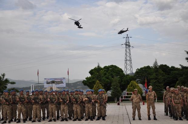 Jandarmanın kuruluşu helikopter, gösterisiyle kutlandı