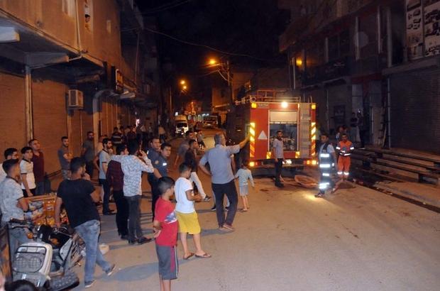 Cizre'de iş yerinde korkutan yangın Cizre'de Bayram Arifesinde iş yerinde çıkan yangın paniğe neden oldu