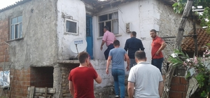 Çanakkale'de eve yıldırım isabet etti, 1 kişi yaralandı
