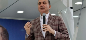 """AB Bakanı Çelik Kozan'da bayramlaşma törenine katıldı Avrupa Birliği Bakanı Ömer Çelik: """"Adaylar arasında bir tarafta Recep Tayyip Erdoğan diğer tarafta ise yıkım lobisi var"""""""