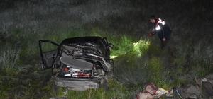 Kars'ta otomobil 200 metrelik yamaçtan yuvarlandı: 3 yaralı
