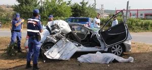 Samsun'da biçerdöver ile otomobil çarpıştı: 1 ölü, 3 yaralı