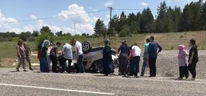 Bayram ziyaretine gelen aile kaza yaptı: 5 yaralı