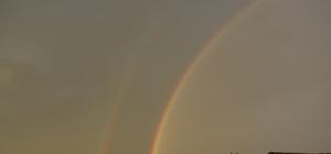 Bartın'da çift gökkuşağı seyir zevki sundu