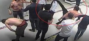 Hastanede doktorun yüzüne tekme atma anı güvenlik kamerasında