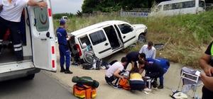 Bayram dönüşü yapılan kazada baba oğul yaralandı