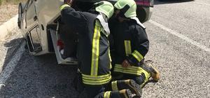Denizli'de otomobil takla attı: 1 yaralı