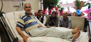 Şehit Fethi Sekin'in babası trafik kazası geçirdi