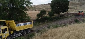 Gaziantep'te 18 köyden 240 kilometre arazi yolu  açıldı