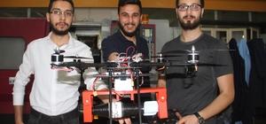 """Öğrencilerden roket atan """"İHA' Fırat Kalkanı ve Afrin operasyonundan etkilenen Fırat Üniversitesi Makine Mühendisliğinden 4 öğrenci,  bitirme tezi olarak roket atan Silahlı İnsansız Hava Aracı yaptı"""