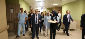 Kayseri Şehir Hastanesi'nde ilk bayramlaşma