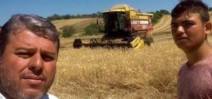 """Uzunköprü'de kuraklık, buğdayın belini büktü Meriç Ziraat Odası Başkanı Ömer Ergin: """"Kurallık nedeniyle buğdaylar erken biçiliyor"""""""