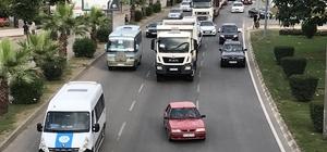 Fatsa'da trafik yoğunluğu
