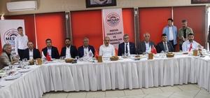 """Bakan Elvan: """"Balık çiftliklerini karadan bin 900 metre ileri taşıyacağız"""" Kalkınma Bakanı Lütfi Elvan, Mersin Sanayicileri ve İş Adamaları Derneği'nin istişare toplantısına katıldı"""