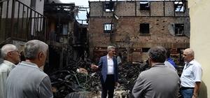 Vali Baruş, yangınzede aileleri ziyaret etti
