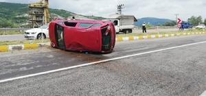 Kontrolden çıkan araç kazaya neden oldu