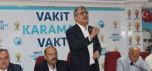 """AK Parti Karaman teşkilatında bayramlaşma programı düzenlendi AK Parti Karaman Milletvekili Recep Konuk; """"Verilecek oy önümüzdeki 5 yılı belirleyecek"""""""