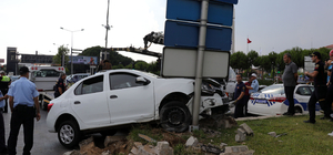 Aydın'da trafik kazası güvenlik kamerasında