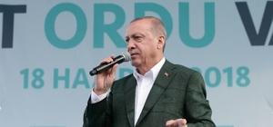 """Cumhurbaşkanı Erdoğan: """"Fındık üreticisini mağdur etmeyeceğiz"""" """"TMO fındık üreticisinin yanındadır"""""""