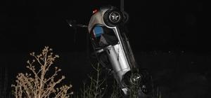 Su kanalına devrilen otomobilin sürücüsü yaşam mücadelesini kaybetti