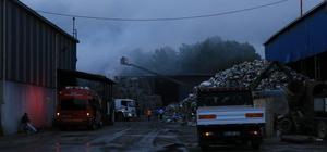 Samsun'da geri dönüşüm tesisinde yangın