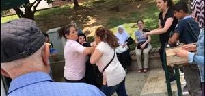 CHP standında şehit annesine saldırı iddiası