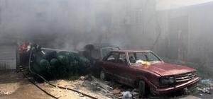 Bahçe teli deposunda yangın Adana'da bahçe teli deposunda elektrik kontağından çıkan yangında maddi hasar oluştu