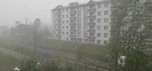 Yağmur ve dolu hayatı olumsuz yönde etkiledi