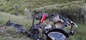 Traktör uçuruma yuvarlandı: 1 yaralı