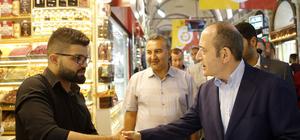 CHP heyeti Kapalıçarşı esnafını ziyaret etti