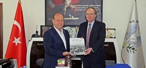 Büyükelçi Berger'den Başkan Özakcan'a ziyaret Büyükelçi Berger'den Başkan Özkacan'a övgü dolu sözler