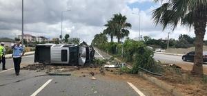 Direksiyon hakimiyeti kaybolan kamyonet takla attı Antalya'nın Gazipaşa ilçesinde meydana gelen trafik kazasında 4 kişi yaralandı.