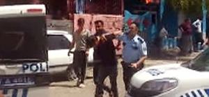 Polise zorluk çıkaran kişi biber gazı ile etkisiz hale getirildi