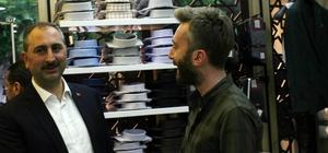Adalet Bakanı Gül Kilis'te esnafı ziyaret etti