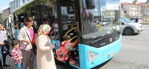 Sivas'ta mesire alanlarına otobüs seferleri başladı