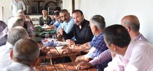Başkan Doğan, seçim çalışmalarını köylerde sürdürdü